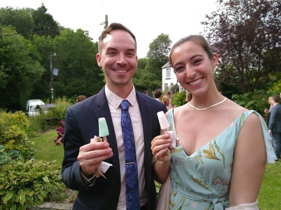 Wedding guests with Pop Cycle poptails